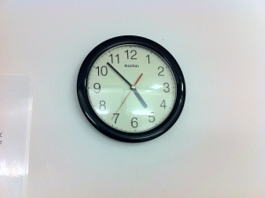5AM Sunday February 3rd.  The clock above the Operating room doors.