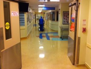 Heading into surgery.