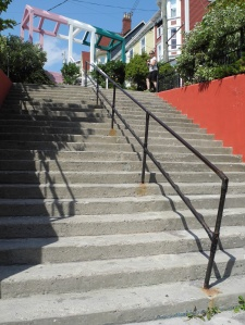 Stairs in St. John's Newfoundland.  the city is full of them!